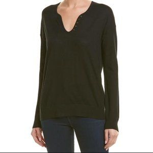 Zadig & Voltaire black Celsa Bis cotton henley